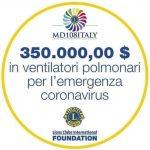 Donazione respiratori polmonari